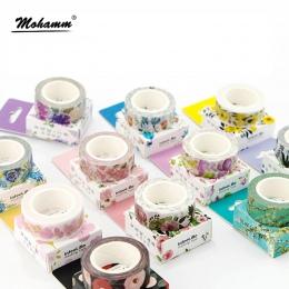 Śliczne Kawaii rośliny kwiaty japoński maskująca taśma Washi klej dekoracyjny taśma Decora Diy Scrapbooking naklejki etykiety pi