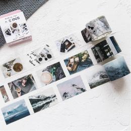 Washi taśma do DIY prezent pakowania Scrapbooking i rzemiosła, lepki papier samoprzylepny taśma maskująca z piękne drukowane wzo