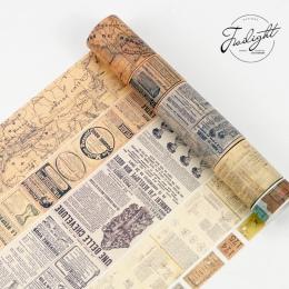 8 m długość taśmy Washi rocznika mapie biletów DIY dekoracyjne maskująca Scrapbooking taśma klejąca taśma Washi zestaw etykiety