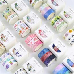 3 rolki taśma maskująca Washi zestaw płatek zwierząt kwiat papieru taśmy maskujące japoński Washi taśma DIY do scrapbookingu nak