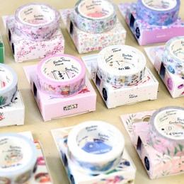15mm * 7 m śliczne Kawaii kwiaty Cartoon maskująca taśma Washi klej dekoracyjny taśma wystrój Decora Diy Scrapbooking naklejki e