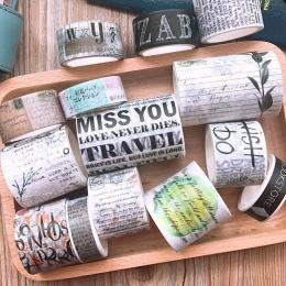 Retro taśma Washi zestaw taśma DIY dekoracji Scrapbooking planowanie taśma maskująca taśmy Washi taśmy materiał dekoracyjny podr