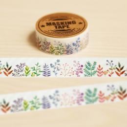 1 Pc 1.5 cm * 10 m roślin zielnych Washi taśma Diy dekoracji Scrapbooking planowanie taśma maskująca naklejki etykiety materiały