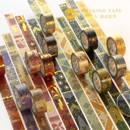 Arabian Nights, taśma Washi złocenie klej dekoracyjny taśma DIY do scrapbookingu naklejki etykiety Craft taśma maskująca