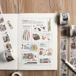 Papeteria na ołówek torba Washi taśma klejąca taśma DIY do scrapbookingu naklejki etykiety taśma maskująca