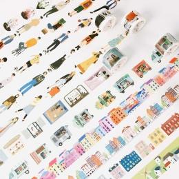 1 PC 24 styl kreatywny współczesnych ludzi miasta codzienne życie Washi taśma Scotch DIY Scrapbooking dekoracyjne taśma maskując