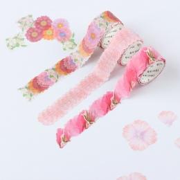 200 sztuk/rolki kwiat płatki taśma Washi taśma maskująca zapach Sakura Washi taśma Scrapbooking pamiętnik papieru naklejki