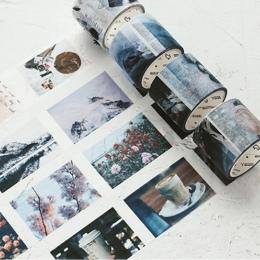 1X Coffee Life w stylu Vintage DIY naklejki naklejki na słowa i cytaty dekoracyjne Washi taśma DIY do scrapbookingu taśma maskuj