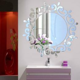 2019 najpopularniejsze pokój akrylowe naklejka Art DIY lustro światła wystrój 3D naklejki ścienne Home Decoration europejski sty