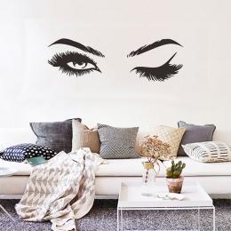 Kreatywny ładna rzęsy naklejki ścienne dziewczyna pokój salon dekoracje dla tapeta do domu naklejki ścienne sztuki Sexy naklejki