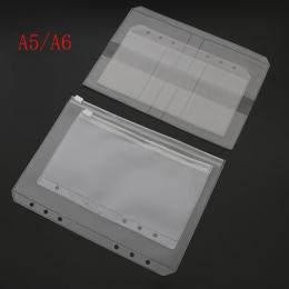 A5/A6 pcv spoiwa folderu uchwyt na zamek błyskawiczny niski profil styl spiralna Plan torba do przechowywania plików, które kart