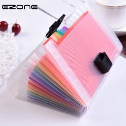 EZONE 13 siatki A6 aktówka śliczne Rainbow kolor Mini rachunku potwierdzenie torba na dokumenty etui Folder organizator uchwyt n