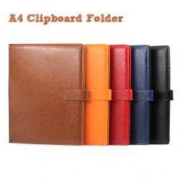 A4 schowka Folder Portfolio wielofunkcyjny skórzany organizator wytrzymały kierownik biura klip pisanie klocki prawnych papieru
