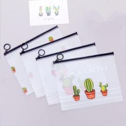 2019 New Arrival Hot kaktus przezroczysty PVC A5 teczka na dokumenty torba na dokumenty torba na materiały piśmienne dla student