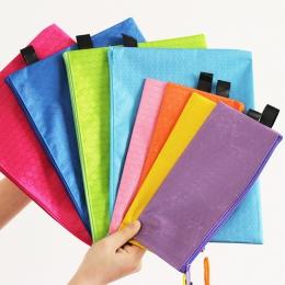 1 sztuk kolorowe pojedyncze warstwa płótnie tkaniny zamek teczka papierowa książki piórnik na ołówki i pióra torba plik dokument