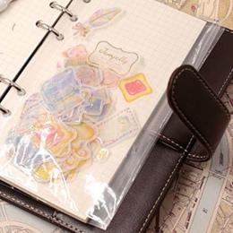 10 sztuk A5 A6 przezroczyste PVC do przechowywania wiążące folderu na segregatorów Notebook 6 otwór aktówka strona DIY luźne liś