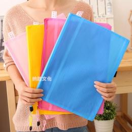 Wysokiej jakości 8 rozmiary losowy kolor plastikowe podwójne warstwy papieru plik dokumentu Bill torba na zamek błyskawiczny pió