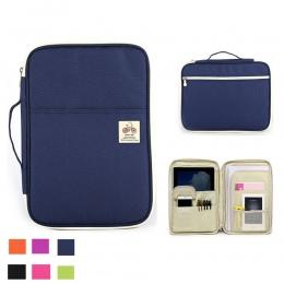 A4 organizer do dokumentów Folder teczka na dokumenty wielofunkcyjny biznes uchwyt etui do iPada torba segregujące do biura tecz