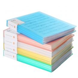A4 Folder plików książce informacji, spinacz do papieru Folder uczeń foldery torba wielowarstwowy przezroczysty Folder na dokume
