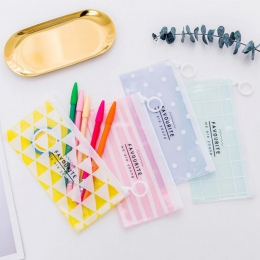1 sztuk nowy Korea szkoła piśmienne piękne słodkie Kawaii kreatywny pcv koperta, aby otrzymać torbę świeże przezroczyste Folder
