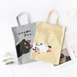 1 PC A4 aktówka kot Folder Bag śliczne Kawaii duża pojemność Oxford tkaniny wysokiej jakości dokumentów Folder prezenty dla stud