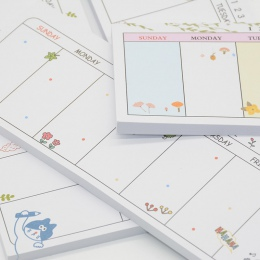 Tygodniowy Planner Agenda Escolar Caderno 2018 szkoła Papeleria biurowe Cuadernos Mini nie Defteri Planificador Semanal