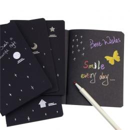 Nowy pamiętnik szkicownika do rysowania malowanie Graffiti miękka okładka czarny papier szkicownik Notebook biurowe szkolne prez