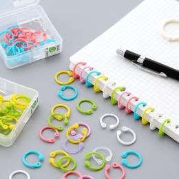 1 pudełko kolorowe łatwy pierścień księga książki luźny segregator wielofunkcyjny koło kalendarz pierścień brelok breloczek