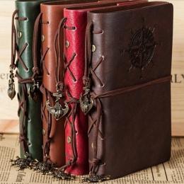 2019 spirali notatnik pamiętnik notatnik w stylu Vintage pirackie kotwice PU skóra Note Book wymienny papeterii Gift Traveler Jo