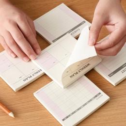 Śliczne Kawaii tygodniowe miesięczne planowanie pracy książka pamiętnik Agenda Dokibook dla przybory szkolne dla dzieci darmowa