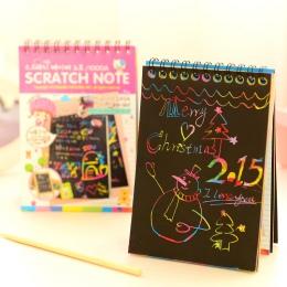 1 Pc Scratch Note czarny karton kreatywny Diy narysuj szkic notatki dla dzieci zabawki Notebook Zakka materiał Escolar szkolne