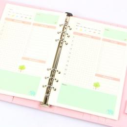 Lato śliczne seria notebooków papiery do A5/A6 kolor wewnętrzny rdzeń Planner wewnątrz strony prezent biurowe