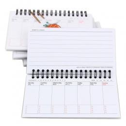 Kawaii plan tygodniowy memo book 80 arkusz raz w tygodniu codziennie planner Sushi notebook agenda organizator artykuły papierni