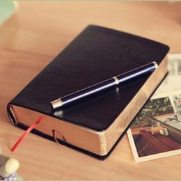 W stylu Vintage Gruby papier notatnik skóra biblia pamiętnik książka Zakka czasopism Planner Agenda szkoła biurowe artykuły biur