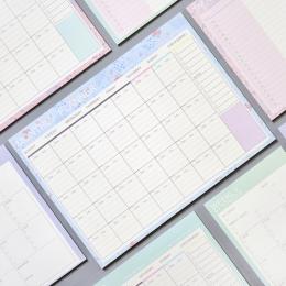 Piękny kwiatowy miesięczny papier podkładka 20 arkuszy 21*28.5 cm DIY miesięczny Planner biurko Agenda prezent szkolne materiały