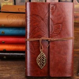 W stylu Vintage notes podróżnika pamiętnik notatnik PU skóra spirala literatury uwaga książki dziennika papieru planistów artyku