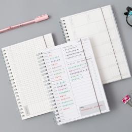 Dzienny tygodniowy miesięczny 2019 2020 planowanie spiralne A5 Notebook czas Memo planowanie organizator Agenda szkoła biuro w h