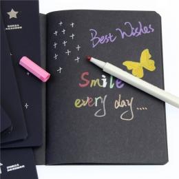 Gorąca szkicownik pamiętnik rysunek malowanie Graffiti czarny papier 28 arkuszy jak Ketch książka Notebook szkolne jako prezent