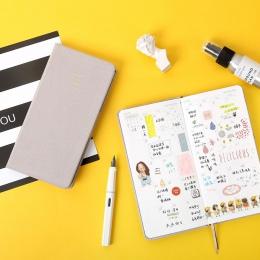 Pure Color kieszonkowy planer tygodniowy notatnik 88 arkuszy 19.1*9.8 cm DIY raz w tygodniu Plan książki prezent darmowa wysyłka