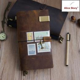 100% prawdziwej skóry notebooka podróżnika podróży notes w stylu Vintage, ręcznie robione, skóra bydlęca prezent planner wolne n