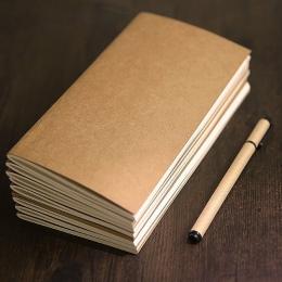 JIANWU kreatywny papier pakowy podróżnik notebook wewnątrz strony pamiętnik różne style