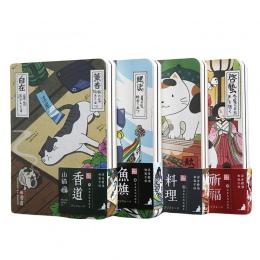 Śliczne kreatywny japoński kot Notebook Planner planner/dzienniczek twarda okładka roczny miesięczny planowania papiery notatnik