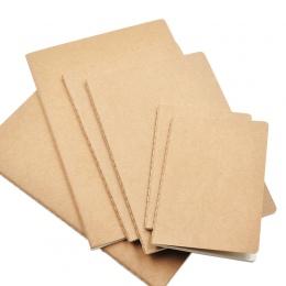 1 sztuk, skóra bydlęca, papier, notatnik, pusty, notatnik, książka Vintage miękki zeszyty codzienne notatki Kraft okładka notatn