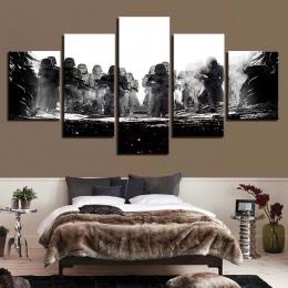 Modułowe zdjęcia Wall Art HD drukuje 5 sztuk Star Wars płótno film malarstwo Home nocne tło wystrój nowoczesne dzieła sztuki pla