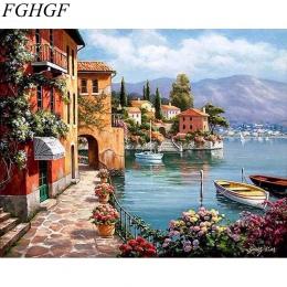 Malowanie przez numery ramki kolorowanie według numerów zdjęcia Home Decor malarstwo na płótnie według numerów dekoracje modułow