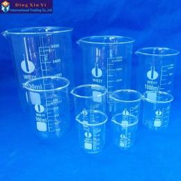 Pojemność 50 ml-3000 ml zlewka niska forma chemii laboratorium ze szkła borokrzemianowego przezroczysta zlewka kolby zagęszczony