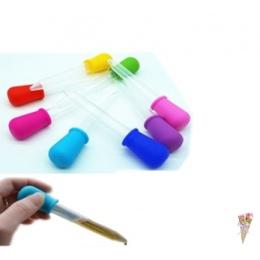 Jasne 5 ML silikonowy dla dzieci z tworzywa sztucznego medycyny Dropper łyżka pipety ciekłe żywności zakraplacz biurety 12 cm *