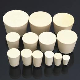 Laboratorium gumowa zatyczka korki kolby stożkowe rury stałe białe alkalicznych odporne na zużycie laboratorium Push-In uszczeln