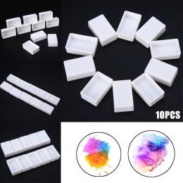 10/40 sztuk pusty pełnych patelni biały pół patelnie farby plastikowe akwarela puste pełne lub częściowe farby patelnie artystów