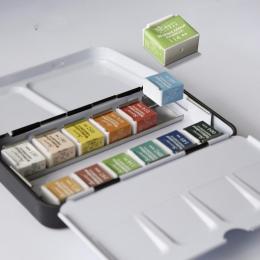 12/24/36/48 kolory pigmenty stałe farby akwarelowe zestaw z pędzlem akwarela zestaw pigmentów dostaw sztuki